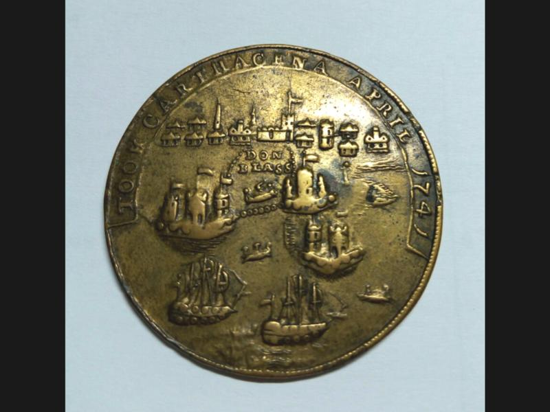 Medalla Vernon- Ogle. Toma de Cartagena 1741 20180614