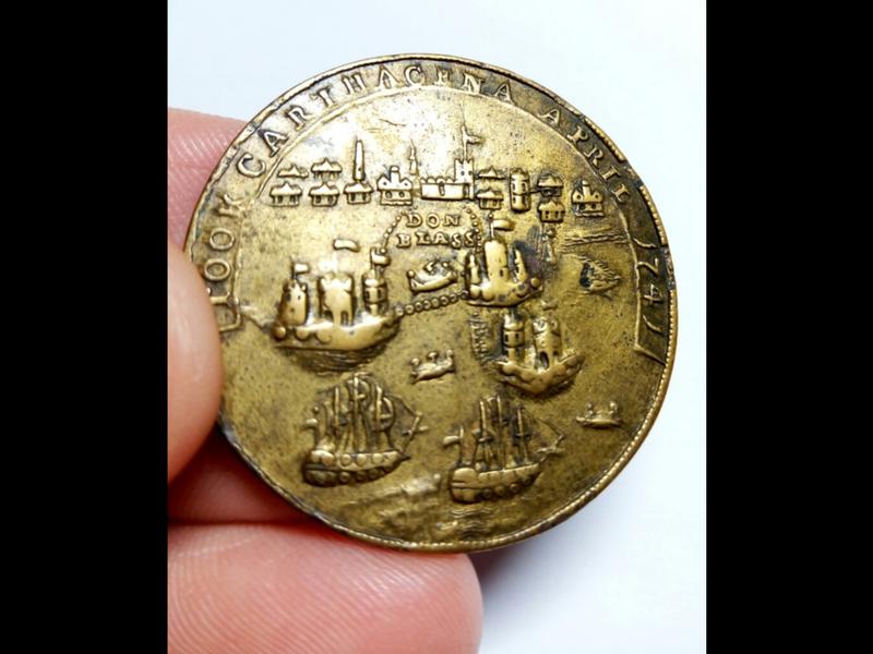 Medalla Vernon- Ogle. Toma de Cartagena 1741 Screen11