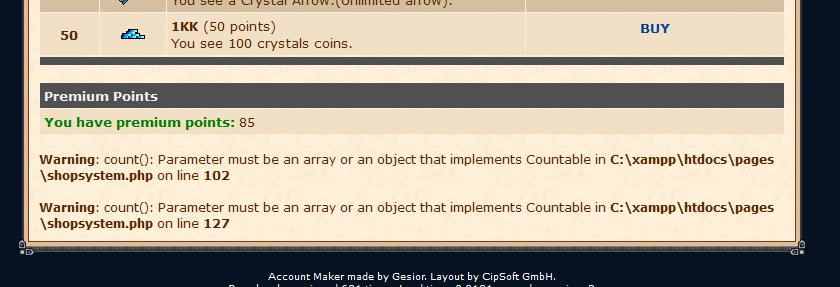 [Web] 2 Errores de codigo en la web 11111110