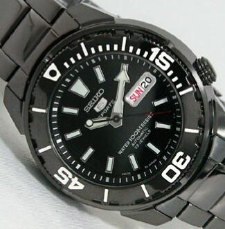 [Vendido]  Seiko 5 sports Made in Japan. Black P.V.D. SNZE99j1 Temp014