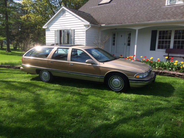 Tan 1996 Buick Roadmaster for sale. 1_side10