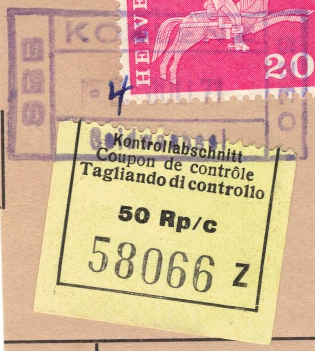 Kontrollabschnitt 50 Rp. SBB Kontro10
