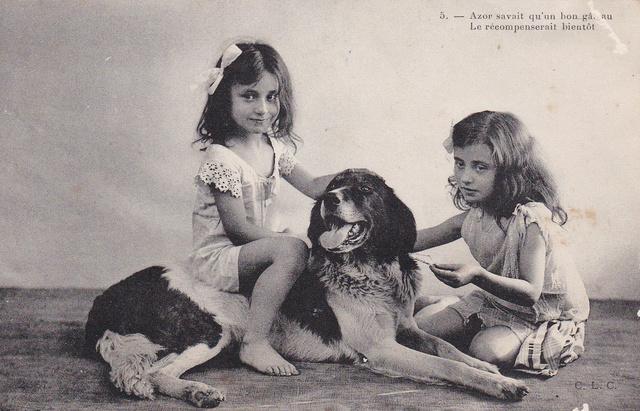 Motiv-Kinder und Hunde 26a10