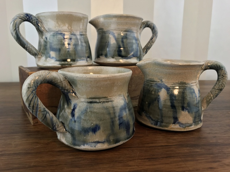 Pottery cup set, F mark - Fiona Kelly Img_0311