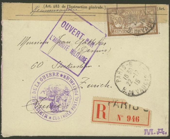 Französische Zensur während des 1.Weltkriegs 97_x_210