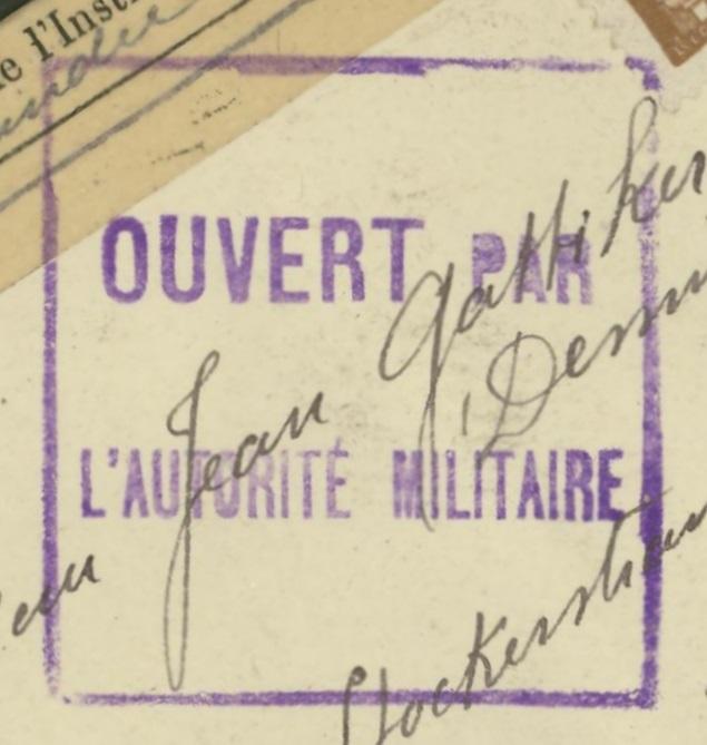 Französische Zensur während des 1.Weltkriegs 97_x_212