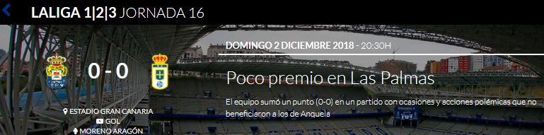 J.16 LIGA 123 TEMPORADA 2018/2019 UD LAS PALMAS-R.OVIEDO (POST OFICIAL) 0115
