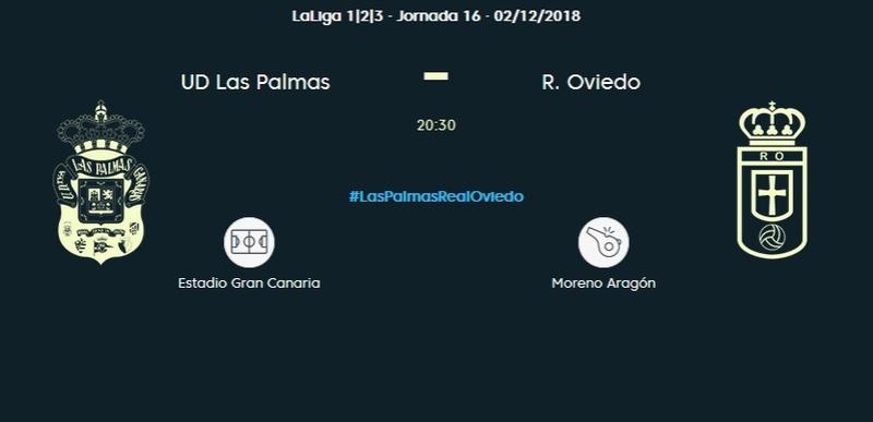 J.16 LIGA 123 TEMPORADA 2018/2019 UD LAS PALMAS-R.OVIEDO (POST OFICIAL) 0313