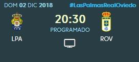 J.16 LIGA 123 TEMPORADA 2018/2019 UD LAS PALMAS-R.OVIEDO (POST OFICIAL) 0413