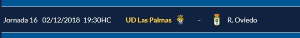 J.16 LIGA 123 TEMPORADA 2018/2019 UD LAS PALMAS-R.OVIEDO (POST OFICIAL) 0513