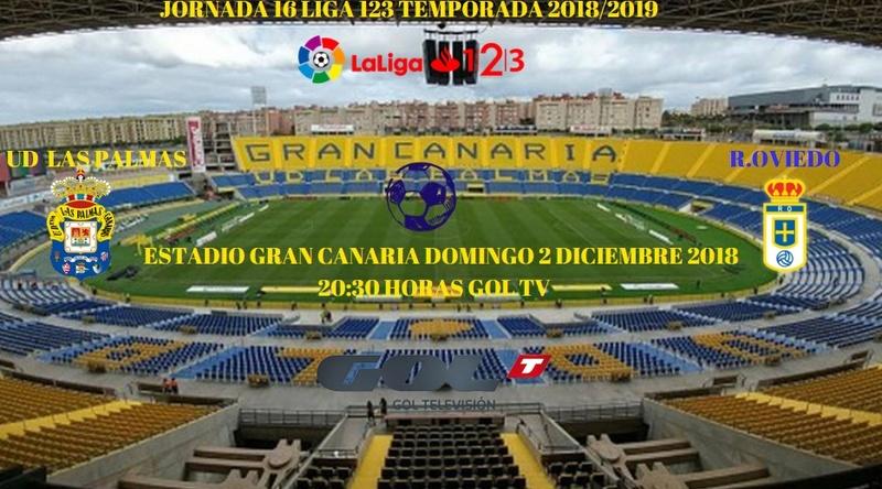J.16 LIGA 123 TEMPORADA 2018/2019 UD LAS PALMAS-R.OVIEDO (POST OFICIAL) 1111
