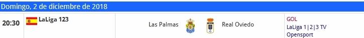 J.16 LIGA 123 TEMPORADA 2018/2019 UD LAS PALMAS-R.OVIEDO (POST OFICIAL) 1211
