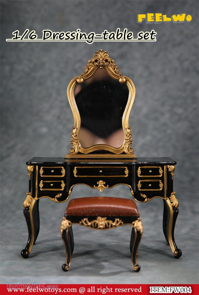 NEW PRODUCT: 1/6 Dressing-Table Set (Black)  From FEELWOTOYS  Code: FW004A,B,C,D (4 colors) 12120126