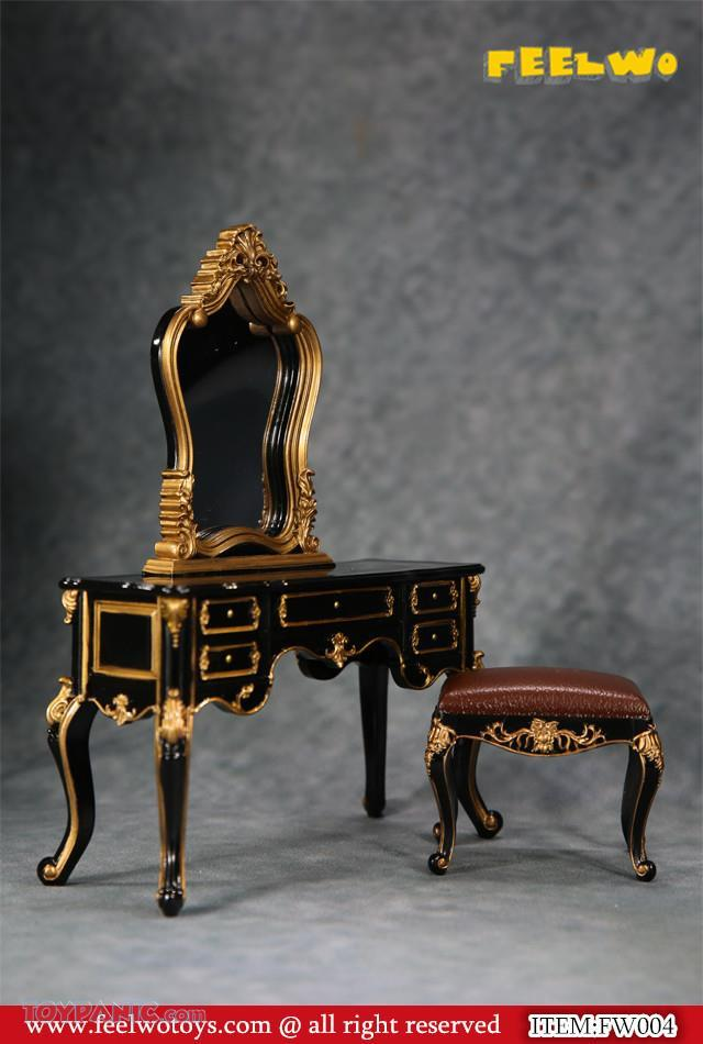 NEW PRODUCT: 1/6 Dressing-Table Set (Black)  From FEELWOTOYS  Code: FW004A,B,C,D (4 colors) 12120127