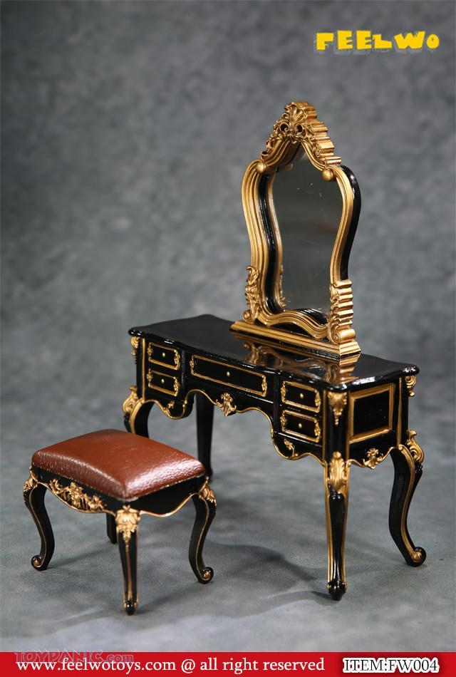 NEW PRODUCT: 1/6 Dressing-Table Set (Black)  From FEELWOTOYS  Code: FW004A,B,C,D (4 colors) 12120128