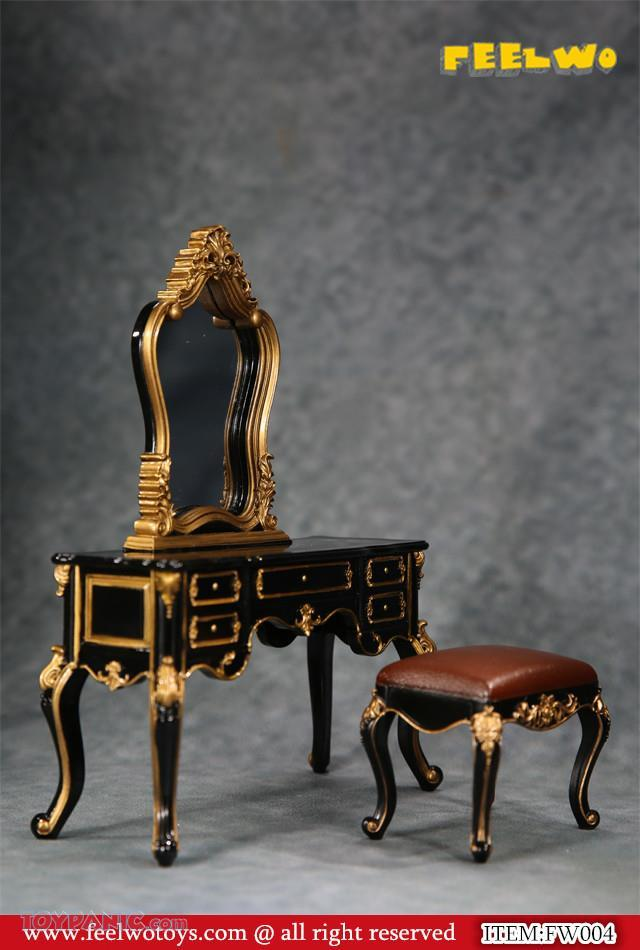 NEW PRODUCT: 1/6 Dressing-Table Set (Black)  From FEELWOTOYS  Code: FW004A,B,C,D (4 colors) 12120129