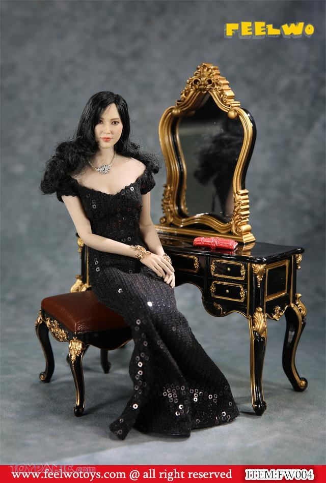 NEW PRODUCT: 1/6 Dressing-Table Set (Black)  From FEELWOTOYS  Code: FW004A,B,C,D (4 colors) 12120130