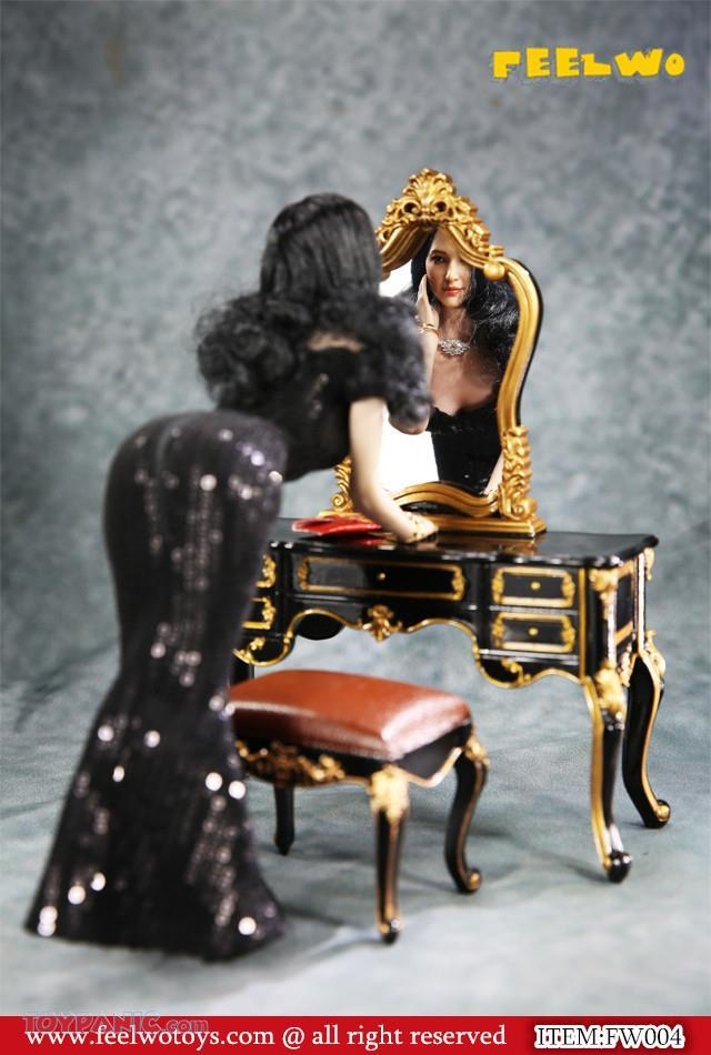 NEW PRODUCT: 1/6 Dressing-Table Set (Black)  From FEELWOTOYS  Code: FW004A,B,C,D (4 colors) 12120131