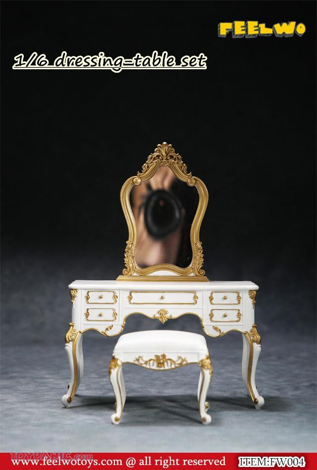 NEW PRODUCT: 1/6 Dressing-Table Set (Black)  From FEELWOTOYS  Code: FW004A,B,C,D (4 colors) 12120133