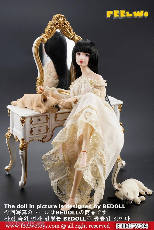 NEW PRODUCT: 1/6 Dressing-Table Set (Black)  From FEELWOTOYS  Code: FW004A,B,C,D (4 colors) 12120137