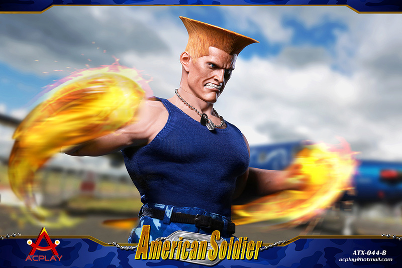 NEW PRODUCT: ACPLAY New: 1/6 Street Fighter - American Soldier Double Head Carving Set (ATX044) 12264510