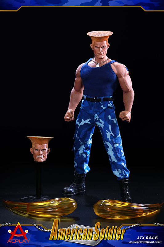 NEW PRODUCT: ACPLAY New: 1/6 Street Fighter - American Soldier Double Head Carving Set (ATX044) 12300010