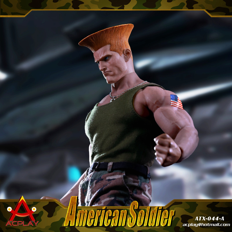NEW PRODUCT: ACPLAY New: 1/6 Street Fighter - American Soldier Double Head Carving Set (ATX044) 12314810