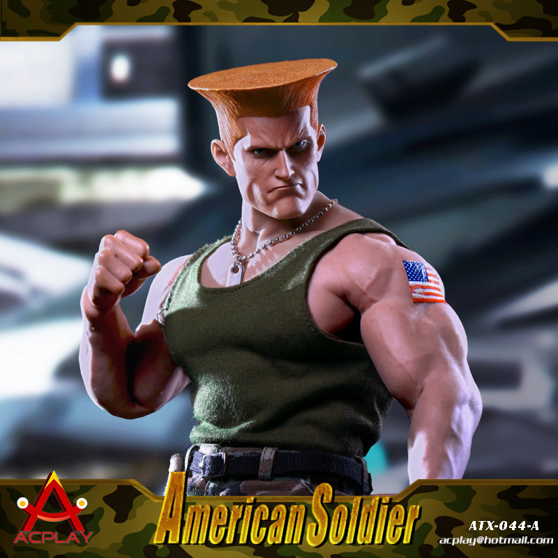 NEW PRODUCT: ACPLAY New: 1/6 Street Fighter - American Soldier Double Head Carving Set (ATX044) 12315210