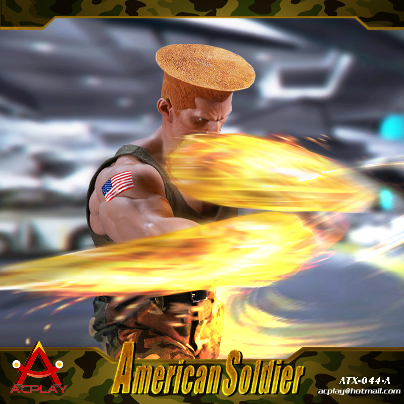 NEW PRODUCT: ACPLAY New: 1/6 Street Fighter - American Soldier Double Head Carving Set (ATX044) 12315610