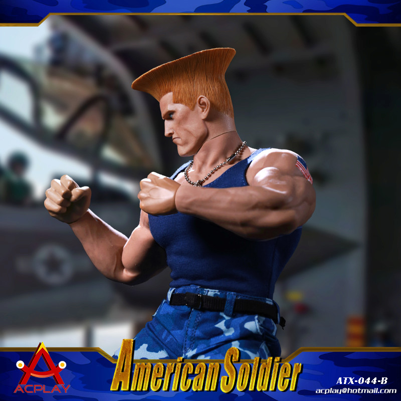 NEW PRODUCT: ACPLAY New: 1/6 Street Fighter - American Soldier Double Head Carving Set (ATX044) 12315910