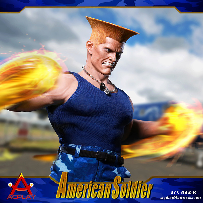 NEW PRODUCT: ACPLAY New: 1/6 Street Fighter - American Soldier Double Head Carving Set (ATX044) 12320510