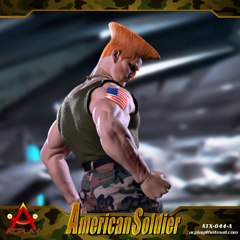 NEW PRODUCT: ACPLAY New: 1/6 Street Fighter - American Soldier Double Head Carving Set (ATX044) 12321110