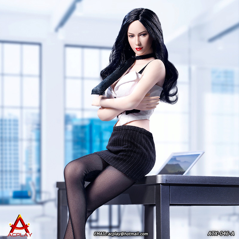 NEW PRODUCT: ACPLAY New: 1/6 ATX046 sexy female secretary costume set - a total of three colors 1411