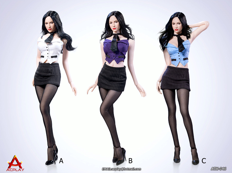 NEW PRODUCT: ACPLAY New: 1/6 ATX046 sexy female secretary costume set - a total of three colors 14301810