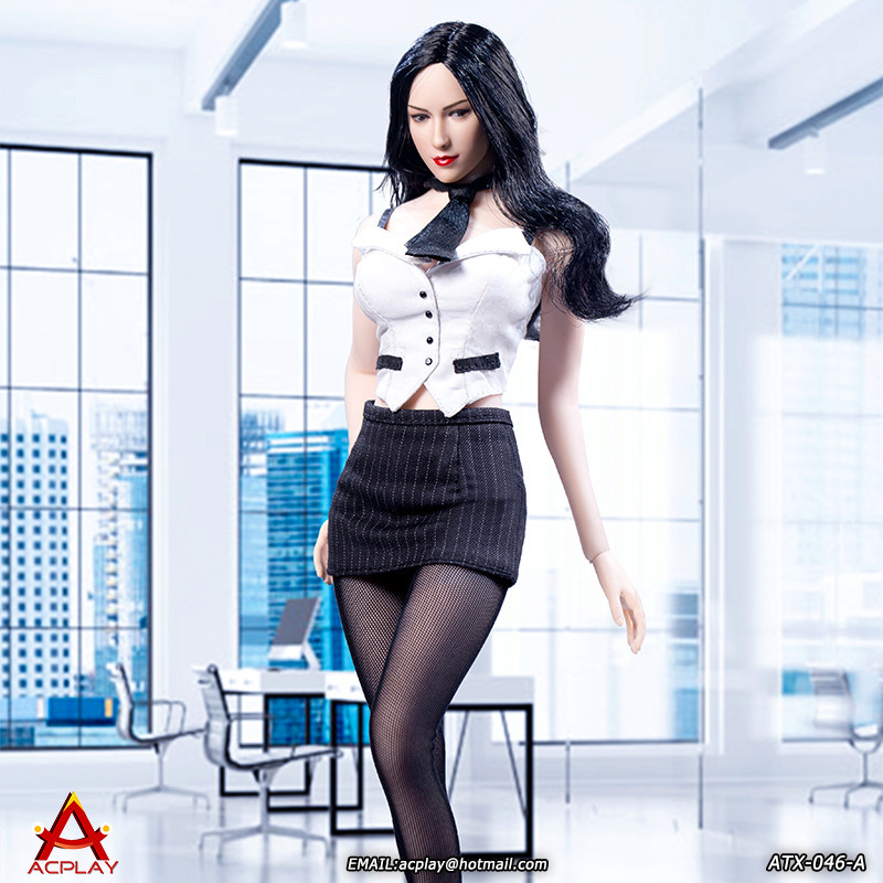 NEW PRODUCT: ACPLAY New: 1/6 ATX046 sexy female secretary costume set - a total of three colors 1511