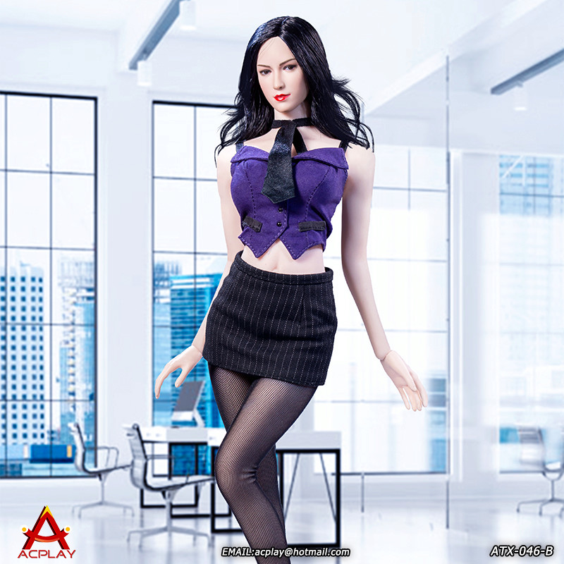 NEW PRODUCT: ACPLAY New: 1/6 ATX046 sexy female secretary costume set - a total of three colors 1811