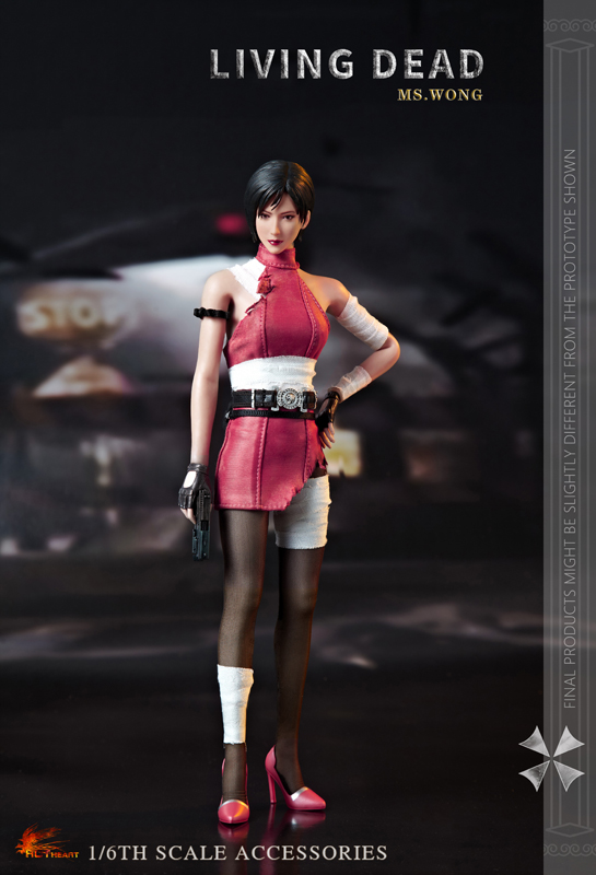 NEW PRODUCT: HOT HEART New: 1/6 Zombie Killer Mysterious Female Spy Ms. Wong (FD006) 18163810
