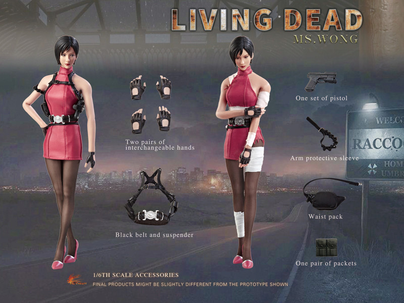 NEW PRODUCT: HOT HEART New: 1/6 Zombie Killer Mysterious Female Spy Ms. Wong (FD006) 18165910
