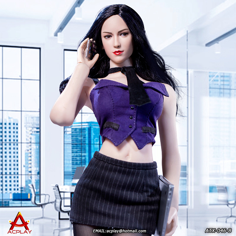 NEW PRODUCT: ACPLAY New: 1/6 ATX046 sexy female secretary costume set - a total of three colors 1911