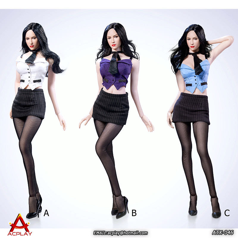 NEW PRODUCT: ACPLAY New: 1/6 ATX046 sexy female secretary costume set - a total of three colors 2211