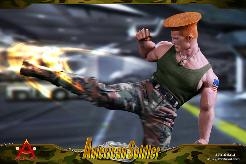 NEW PRODUCT: ACPLAY New: 1/6 Street Fighter - American Soldier Double Head Carving Set (ATX044) 26120310