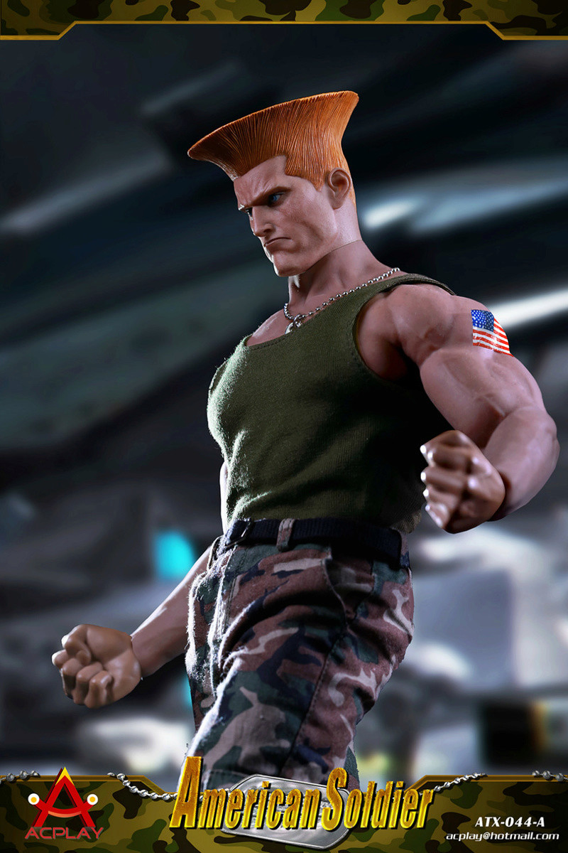 NEW PRODUCT: ACPLAY New: 1/6 Street Fighter - American Soldier Double Head Carving Set (ATX044) 26120312