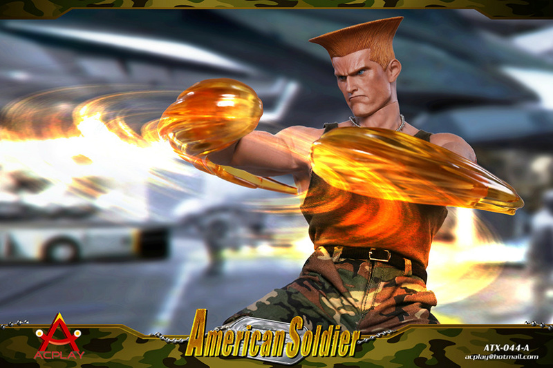 NEW PRODUCT: ACPLAY New: 1/6 Street Fighter - American Soldier Double Head Carving Set (ATX044) 26120315