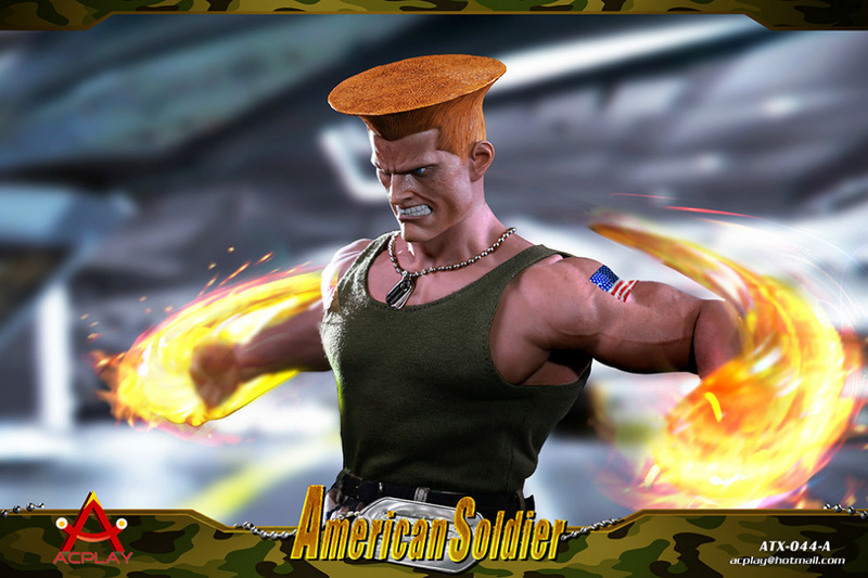NEW PRODUCT: ACPLAY New: 1/6 Street Fighter - American Soldier Double Head Carving Set (ATX044) 26120316