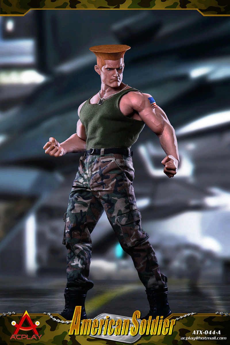 NEW PRODUCT: ACPLAY New: 1/6 Street Fighter - American Soldier Double Head Carving Set (ATX044) 26120317