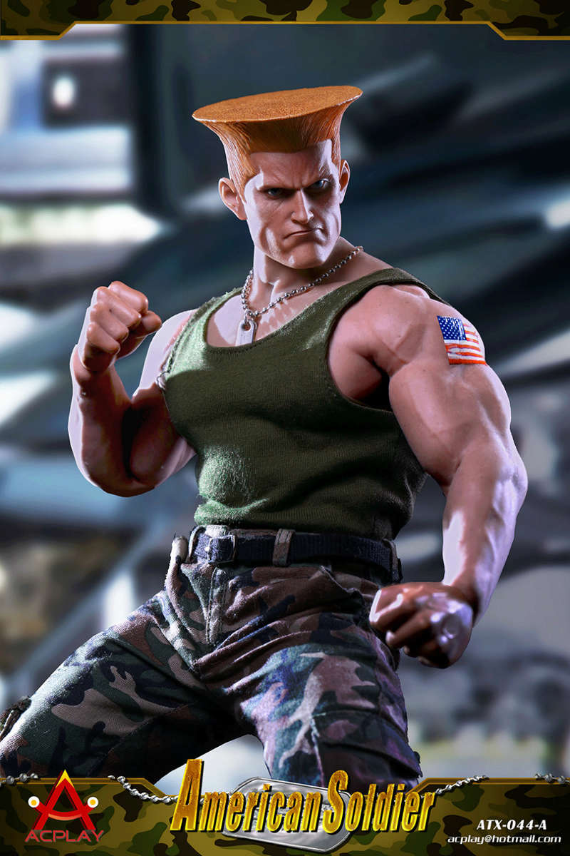 NEW PRODUCT: ACPLAY New: 1/6 Street Fighter - American Soldier Double Head Carving Set (ATX044) 26120319