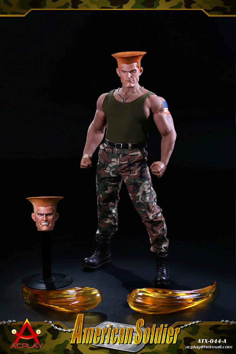 NEW PRODUCT: ACPLAY New: 1/6 Street Fighter - American Soldier Double Head Carving Set (ATX044) 26122610