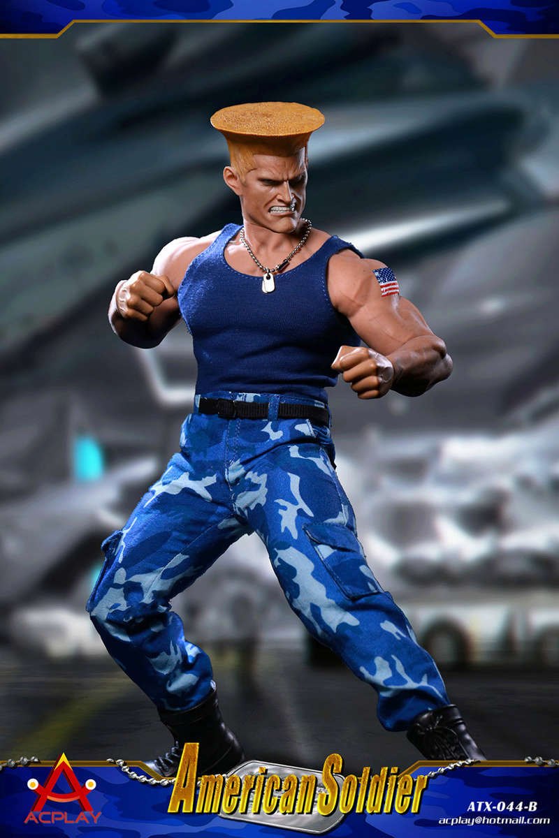 NEW PRODUCT: ACPLAY New: 1/6 Street Fighter - American Soldier Double Head Carving Set (ATX044) 26122710