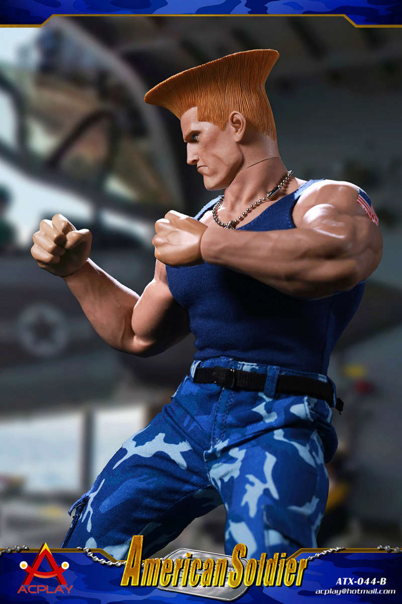 NEW PRODUCT: ACPLAY New: 1/6 Street Fighter - American Soldier Double Head Carving Set (ATX044) 26122711