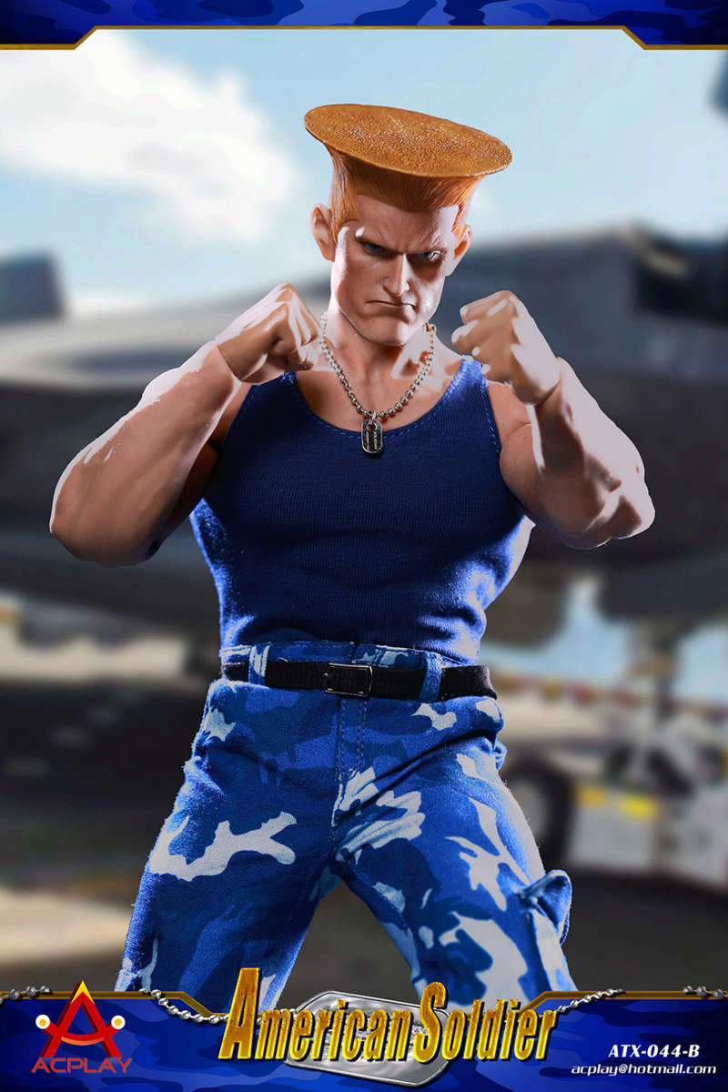 NEW PRODUCT: ACPLAY New: 1/6 Street Fighter - American Soldier Double Head Carving Set (ATX044) 26122712